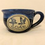 navy soup mug