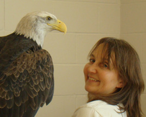 Kay with eagle